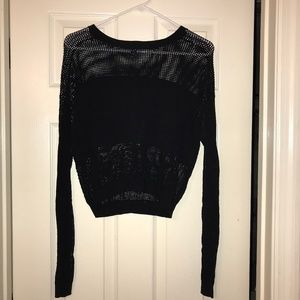 Black Divided Knit Sweater